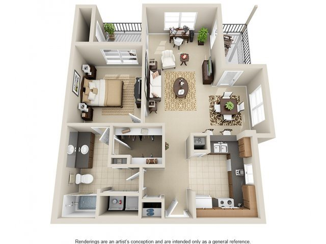 One Bedroom A4 Floor Plan 4