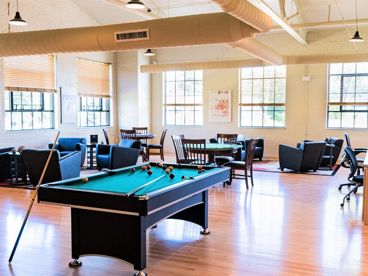 Pool Table & Community Seating