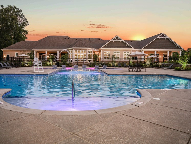 Community Clubhouse With Swimming Pool at Abberly Square Apartment Homes by HHHunt, Waldorf, MD, 20601