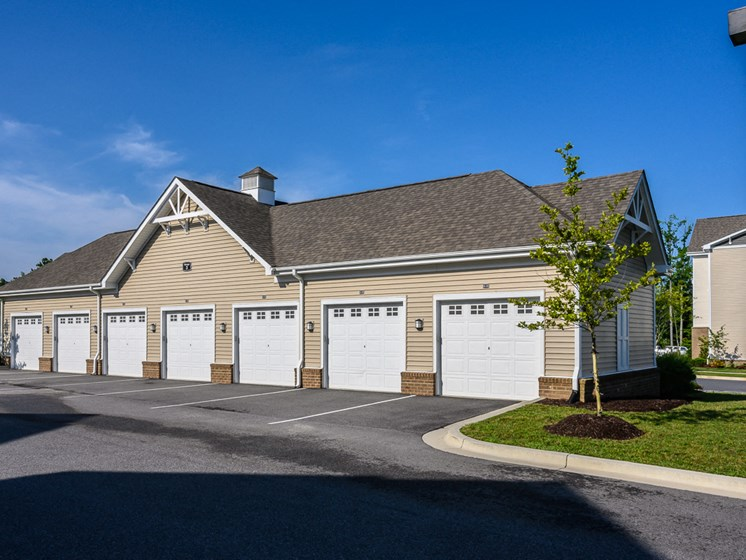 Detached Garages with Remote Access at Abberly Square Apartment Homes by HHHunt, Waldorf, MD