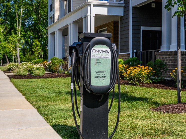 Vehicle Charging Facility at Abberly Square Apartment Homes by HHHunt, Waldorf, Maryland