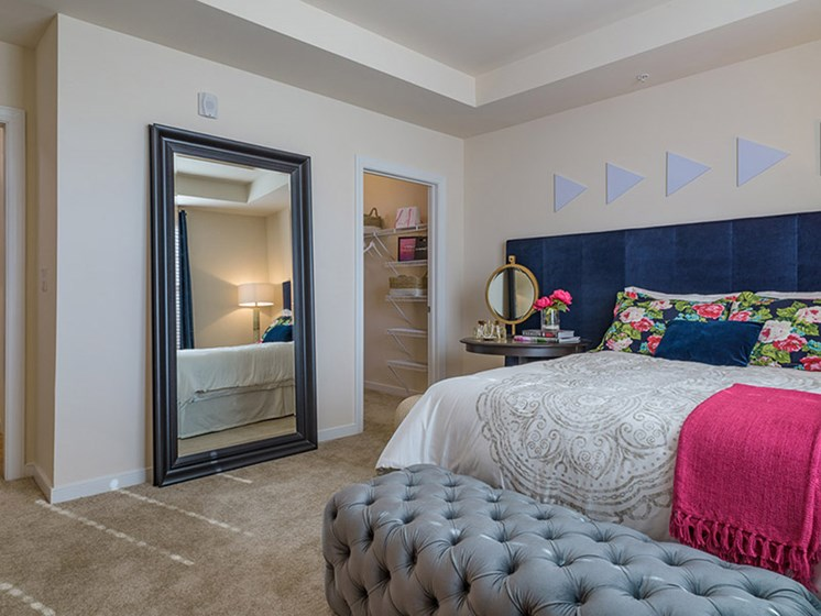 Large Framed Mirror in Bedroom at Abberly Square, Maryland, 20601