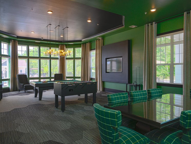 Lively Clubhouse with Billiards, WiFi and Large Screen TVs at Abberly Square Apartment Homes by HHHunt, Maryland, 20601