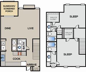 2 Bedroom | 2.5 Bathroom
