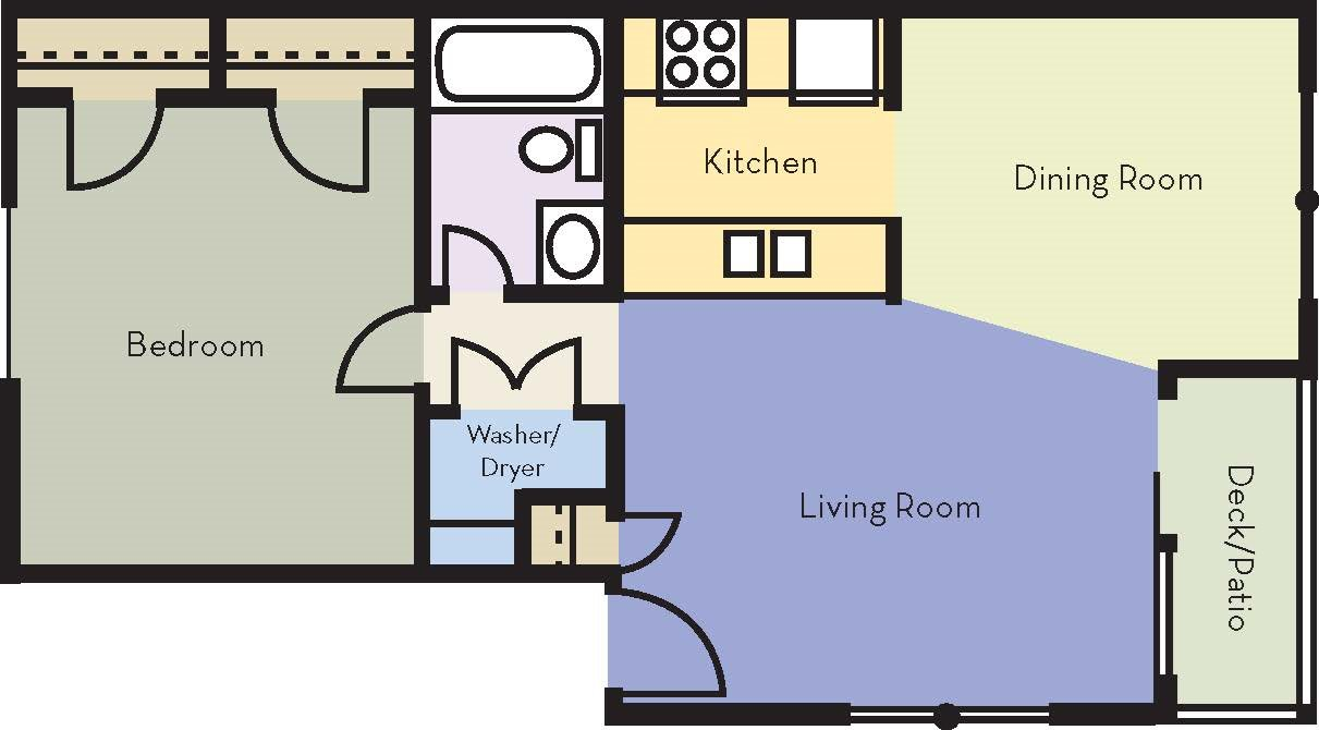A2 Floor Plan | Avesta Lake Creek Apartments in Austin, TX