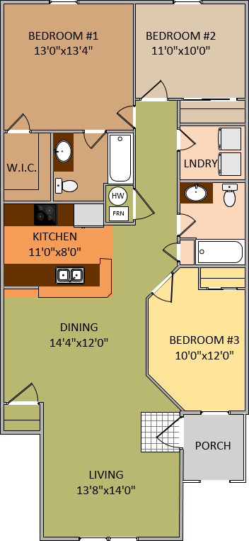 3 Bedroom - 2 Bath
