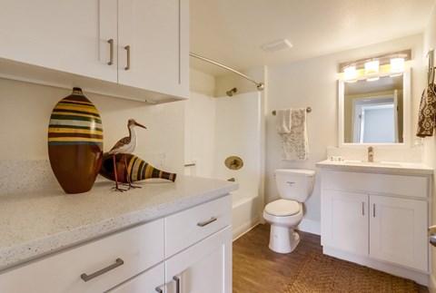 Newport Seacrest Apartments Furnished Apartment Bathroom