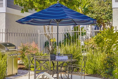 Newport Seacrest Apartments Lifestyle - Grill & Outdoor Lounge Area