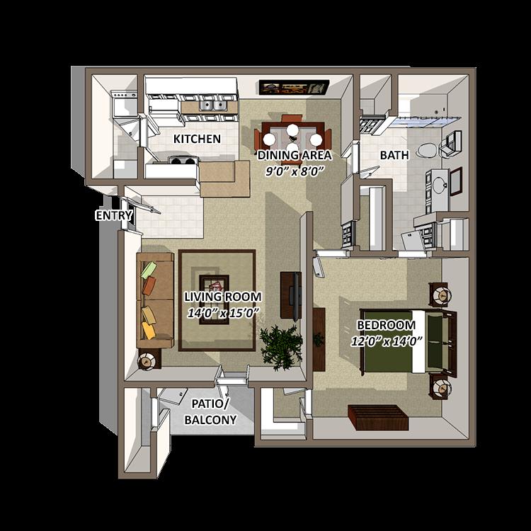 Serenity Floor Plan 1