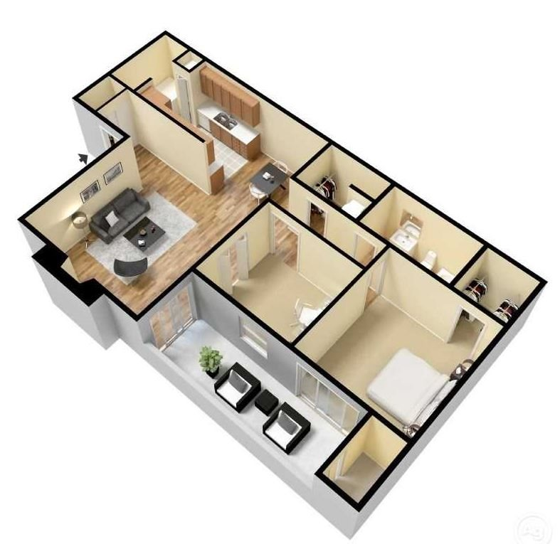 Maple 3d floor plan