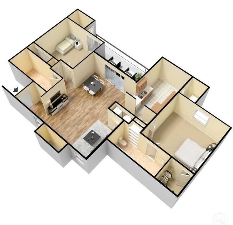 redwood 3d floor plan