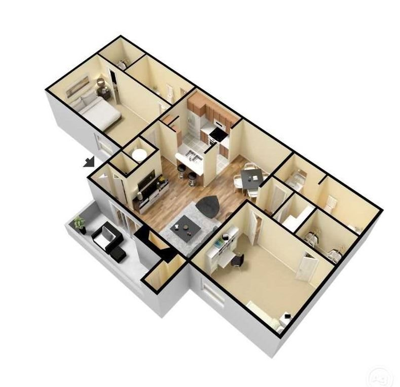 willow 3d floor plan