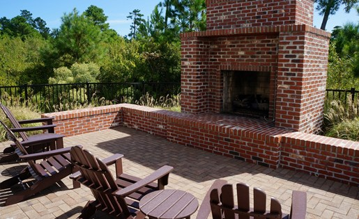Outdoor Fireplace seating area