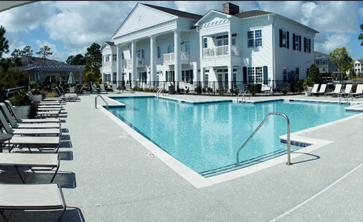 Sparkling Pool with Clubhouse