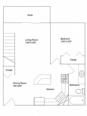1 Bedroom + Loft