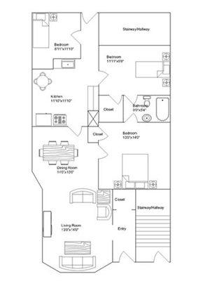 3 Bedroom 1 Bathroom