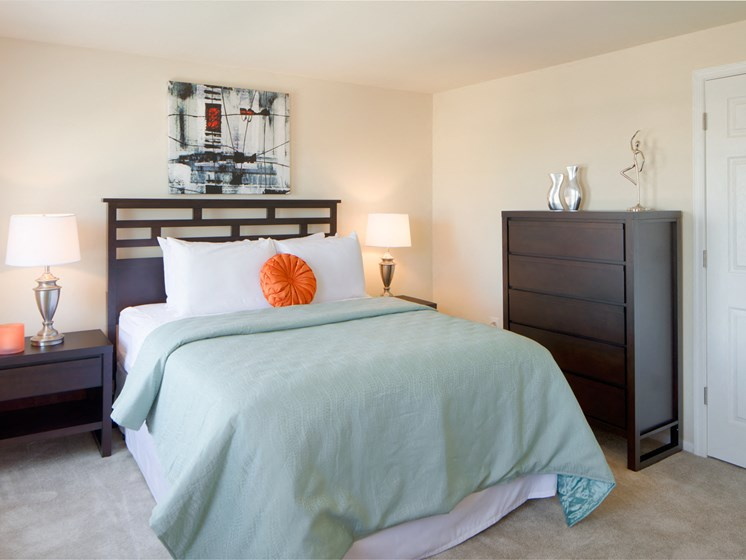 Live in cozy bedrooms at The Townes At Holly Station, Waldorf, MD