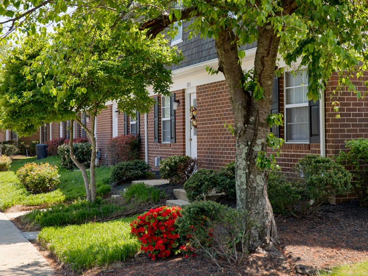 Beautifully Landscaped Grounds With Walking Trails at The Townes At Holly Station, MD 20601