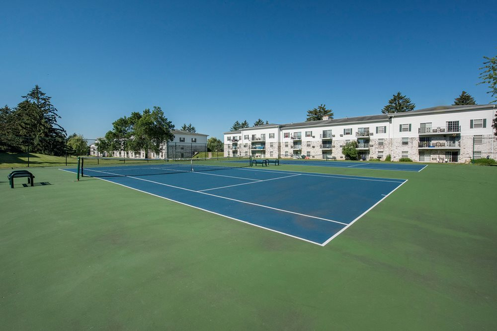 Tennis Court at New Fountains in Fitchburg Wisconsin