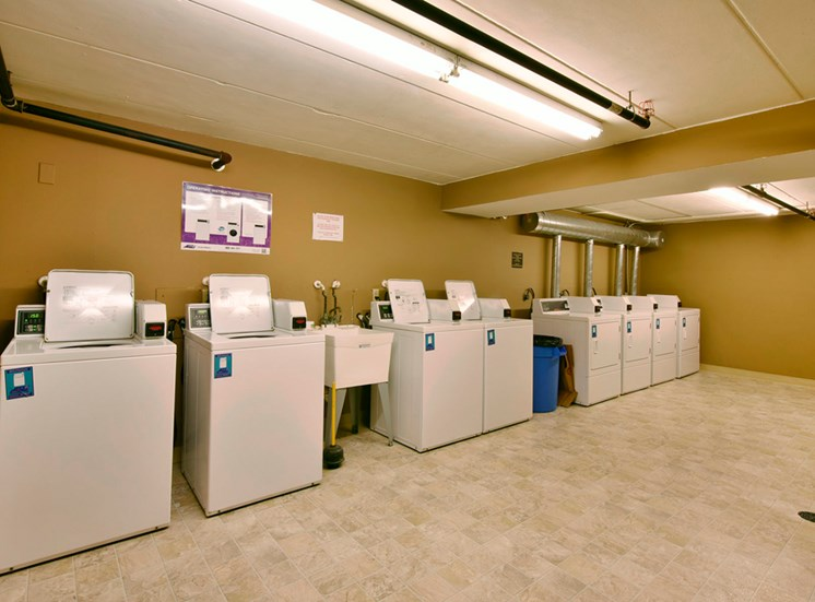 Community laundry room at New Fountains in Fitchburg Wisconsin