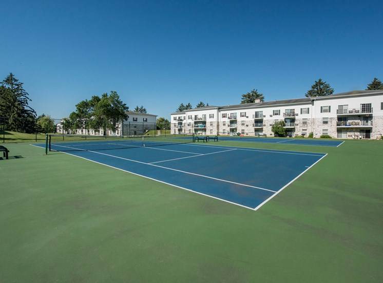 Tennis courts at New Fountains in Fitchburg Wisconsin
