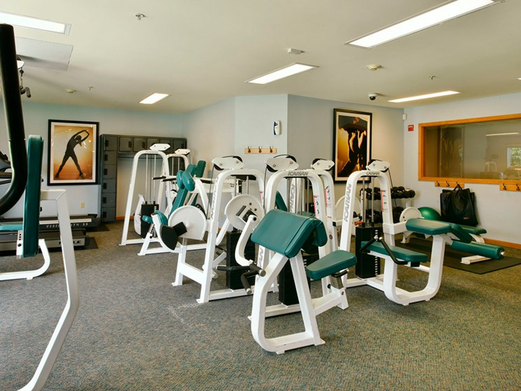Fitness center at New Fountains in Fitchburg Wisconsin