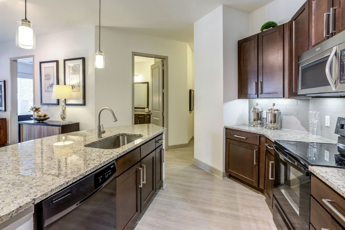 Englewood Apartments for Rent -Helios Modern Fully Equipped Kitchen