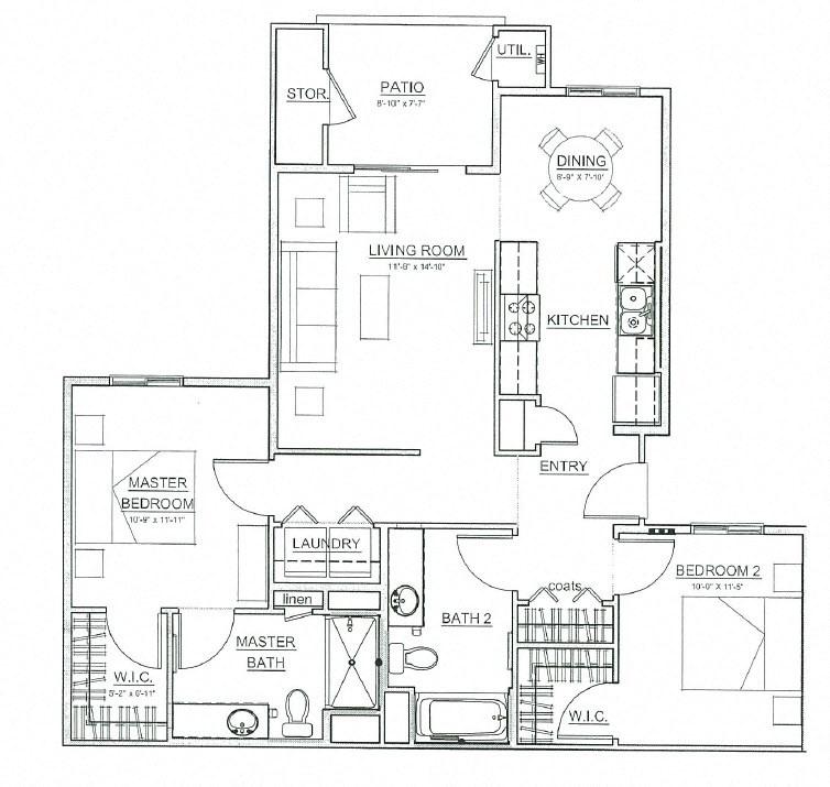 Floor Plans Of Boulder Pines Family Apartments In Las Vegas Nv