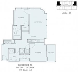 2 Bedroom B2 (East / West)