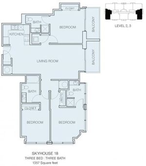 3 Bedroom C2 (East / West)