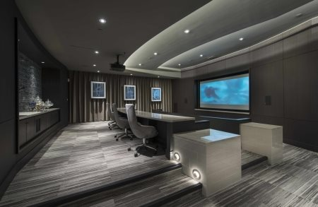 Private movie screening room at 1000 Grand by Windsor, Los Angeles, CA