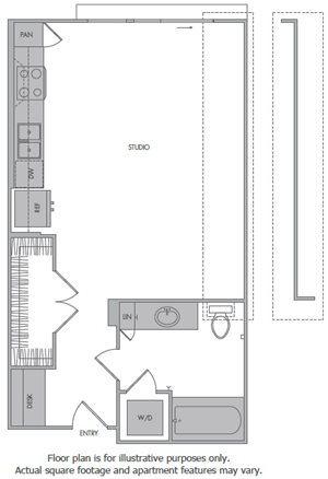 Floorplan at 1000 Grand by Windsor