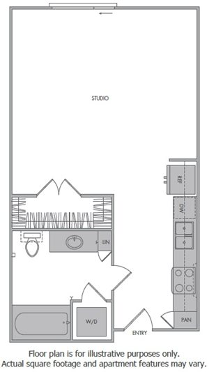 B Floorplan at 1000 Grand by Windsor