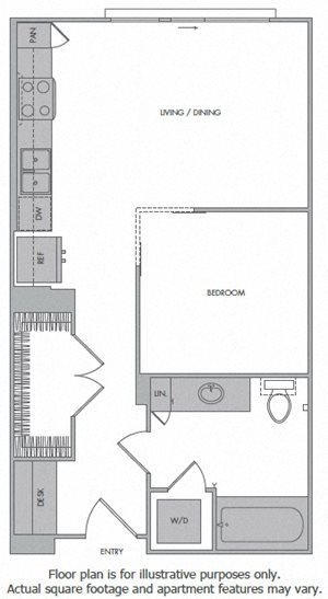 C Floorplan at 1000 Grand by Windsor