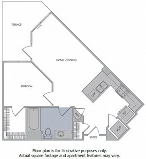 D Floorplan at 1000 Grand by Windsor