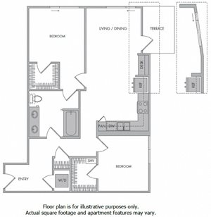 K Floorplan at 1000 Grand by Windsor