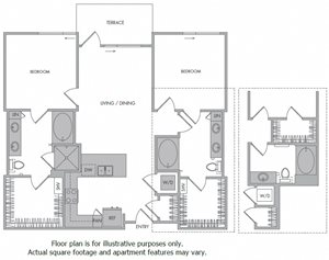 M Floorplan at 1000 Grand by Windsor
