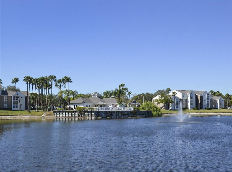 The Point at Naples Apartment Homes Naples, FL 34112 blue skies and crystal blue lakes
