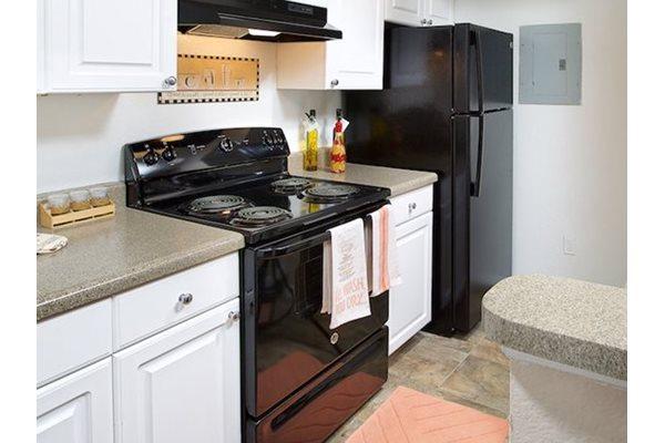 The Point at Naples Apartment Homes Naples, FL 34112 sleek black appliances