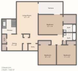 3 Bedroom 2 Bath