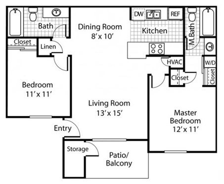The Alexander_Santa Rosa CA_Floor Plan B2_Two Bedroom Two Bathroom