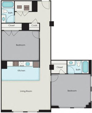 First National Apartments - Underhill Plan