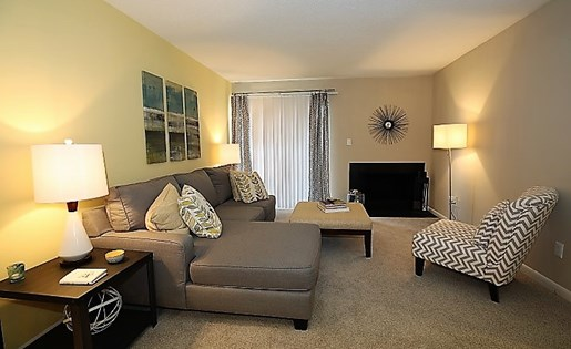 Living Room at The Fields Parkside in Winston Salem NC