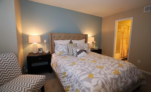 Bedroom at The Fields Parkside in Winston Salem NC