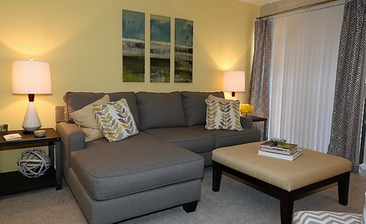 Sofa at The Fields Parkside in Winston Salem NC