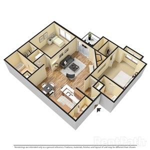 Two Bedroom-Two Bath