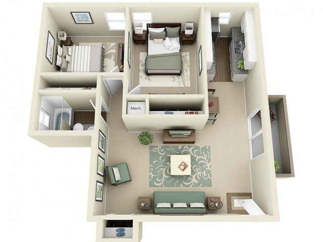 Kingsmen- 825 sq ft Floor Plan 9