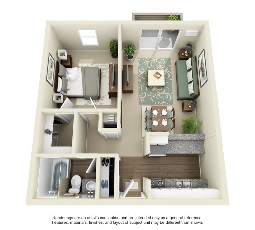 Tiger- 640 sq ft Floor Plan 4