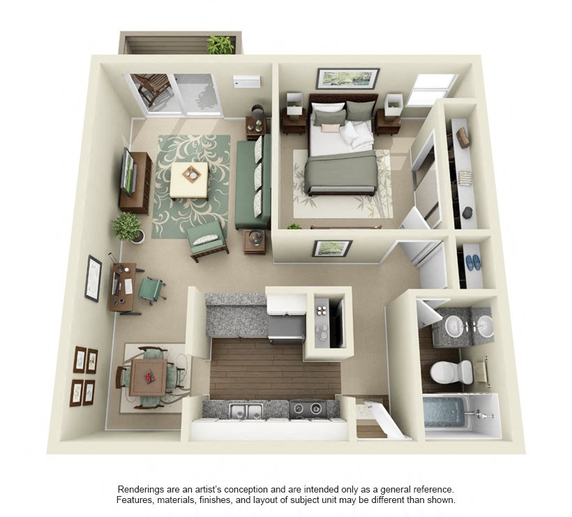 Alexander- 725 sq ft Floor Plan 7
