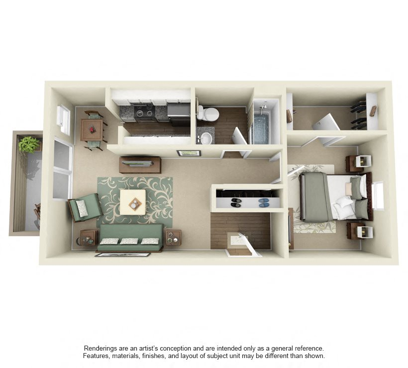 Coconut- 660 sq ft Floor Plan 5